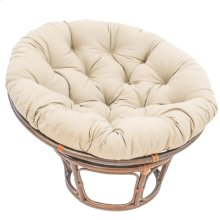 Bali 42-inch Indoor Fabric Rattan Papasan Chair - Walnut/Natural