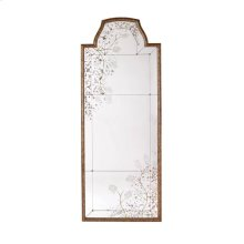 OVERSCALED MIRROR GILDED ANTIQUE SILVER