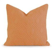 IK Kavita Orange Linen Quilted Pillow w/ Down Fill