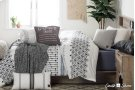 Quilted Throw Pillow - Gray Product Image