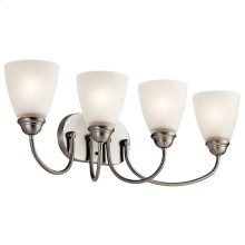 Jolie 4 Light Vanity Light with LED Bulbs Brushed Nickel