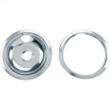 "8"" GE Chrome Pan w/Ring Combo PK"