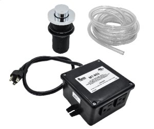 """Round """"Deluxe"""" Raised Waste Disposer Air Switch with Freedom Mount Product Image"""