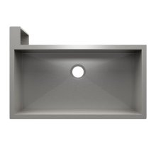 "SocialCorner 005304 - undermount with apron front stainless steel Kitchen sink , 35"" × 18"" × 10"" Left corner"