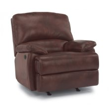 Dylan Leather Power Recliner with Chaise Footrest