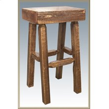 Homestead Half Log Barstool - Stained and Lacquered