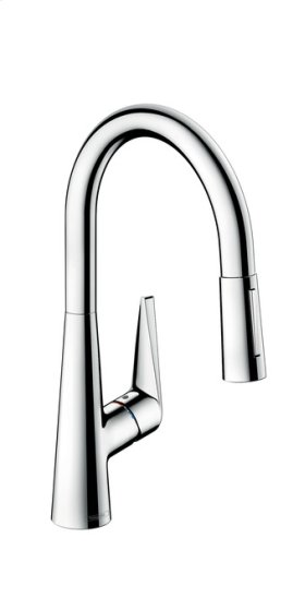 Chrome Talis S 2-Spray HighArc Kitchen Faucet, Pull-Down, 1.75 GPM
