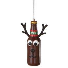 Reindeer Beer Bottle Ornament.