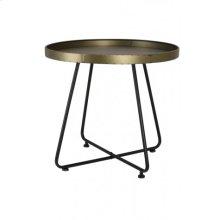 Table 64,5x59 cm HYLKE tin bronze