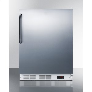 SummitBuilt-in Undercounter Medical All-freezer Capable of -25 C Operation, With Wrapped Stainless Steel Door and Towel Bar Handle