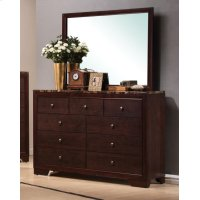 Conner Casual Cappuccino Rectangular Dresser Mirror Product Image