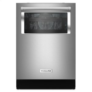 Kitchenaid 44 Dba Dishwasher With Window And Lighted Interior - Stainless Steel