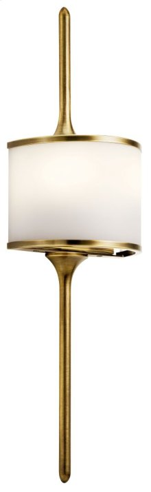 Mona 2 Light Halogen Wall Sconce Natural Brass