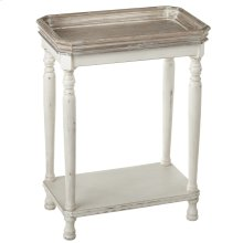 Two Tone Gallery Top Side Table.