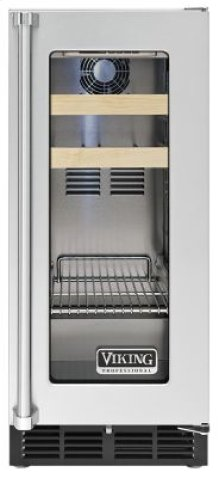 """15"""" Beverage Center, Clear Glass, Right Hinge/Left Handle"""