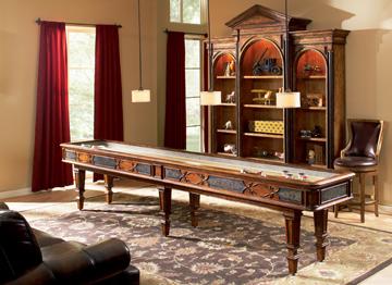 Elegant Scroll Shuffleboard Table - 12'