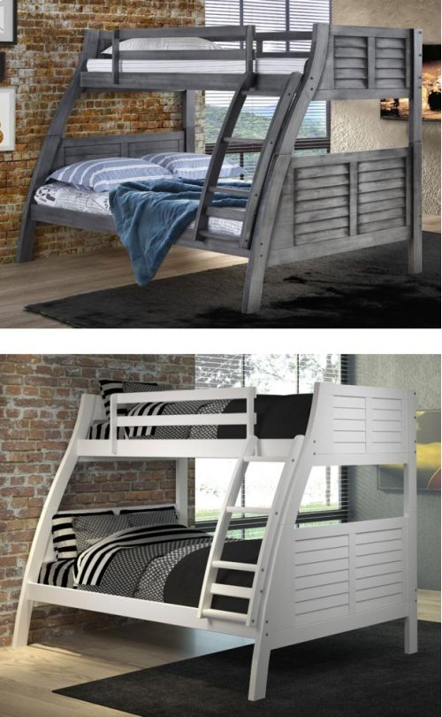 16Y8185BB  Easton Twin/Full Bunk Bed