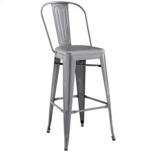 Promenade Bar Side Stool in Gunmetal