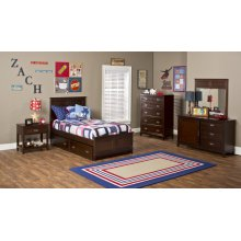 Nantucket 4pc Full Bedroom Set with Trundle