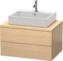 Delos Vanity Unit For Console, Brushed Oak (real Wood Veneer)
