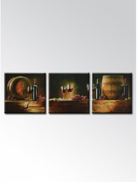 Wine Cellar 3 Pcs Non-frame Painting - Materials From Germany-