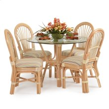 5500 Series 5 Piece Rattan Dining Set All Side Chairs Natural