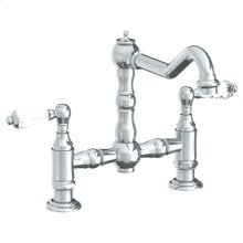 Deck Mounted Bridge Kitchen Faucet
