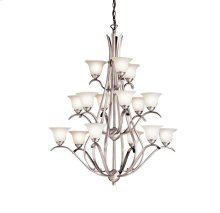 Dover 15 Light Multi Tier Chandelier Brushed Nickel
