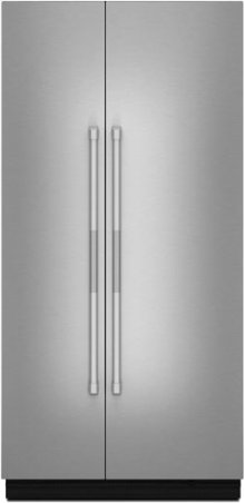 """RISE™ 42"""" Fully Integrated Built-In Side-by-Side Refrigerator Panel-Kit, Stainless Steel"""