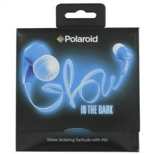 Polaroid Glow Headphones, Noise Isolating Earbuds with Mic - PHP735BL, Blue