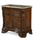 Old World Stone Top Door Nightstand Product Image