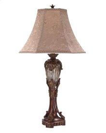2pk Gold/glass Acanthus Leaf Lamp