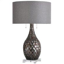 Lydney  27in Jane Seymour Branded Metal & Glass Table lamp  100 Watts  3-Way