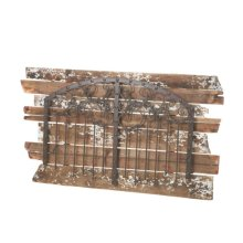 Rustic Black Wall Decor with Distressed Wood Planks.