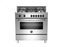 36 5-Burner, Electric Oven Stainless