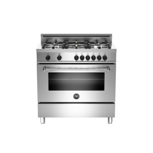 36 5-Burner, Electric Oven Stainless -