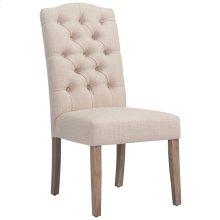 Lucian Side Chair in Beige, 2pk