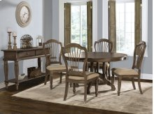 Wilshire 5-piece Round Dining Set - Ash Gray