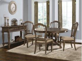 Wilshire 5-piece Round Dining Set - Ash Gray