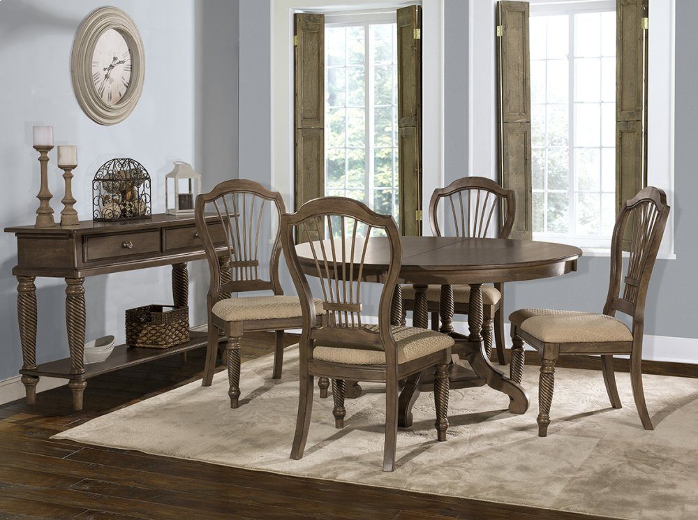 Wilshire 5 Piece Round Dining Set   Ash Gray