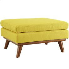Engage Upholstered Fabric Ottoman in Sunny