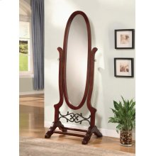 Traditional Brown Red Mirror