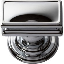 Campaign Rectangle Knob 1 1/2 Inch - Polished Chrome