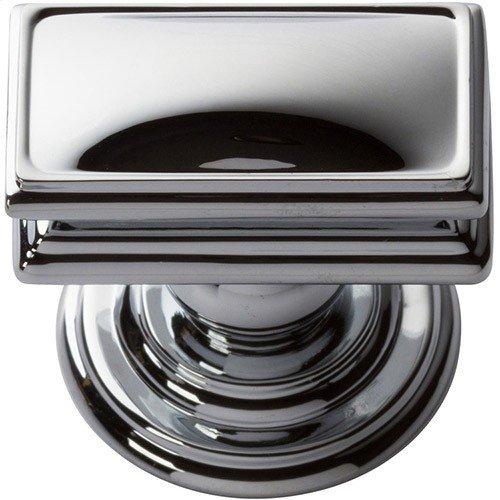 Campaign Rectangle Knob 1 1/2 Inch - Polished Chrome
