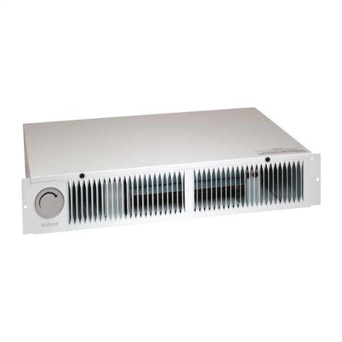 Kickspace Heater, White, 1500W 240VAC, 750/1500W 120VAC, with built-in thermostat.