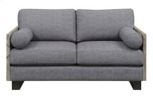 Emerald Home Interlude Loveseat W/2 Bolster Pillows Sandstone U5600-01-03