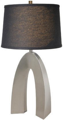 Table Lamp, Ps/black Fabric Shade, E27 Cfl 23w
