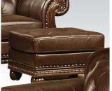 Top+split Leather Ottoman Product Image