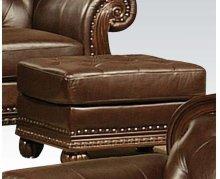 Top+split Leather Ottoman