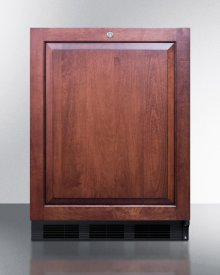 ADA Compliant Built-in Undercounter All-refrigerator for General Purpose/commercial Use, Auto Defrost W/integrated Door Frame for Panels, Lock, Black Cabinet